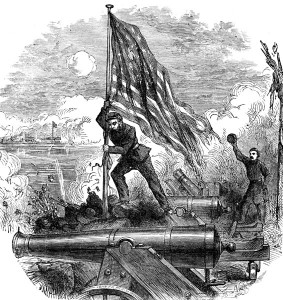 Fort Sumter Flag - Raising the Flag