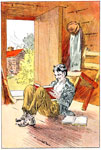 Abraham Lincoln Early Life: Abe reading