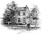 Abraham Lincoln Home: Globe Tavern, Springfield, where Lincoln lived after his marriage