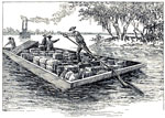 Abraham Lincoln Life: Lincoln as a flatboatman