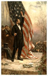Abraham Lincoln Pictures: Abraham Lincoln raising the flag
