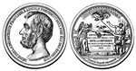 Abraham Lincoln Pictures: Medal of Lincoln from the French Democrats