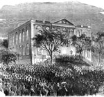 Abraham Lincoln Presidency: Reception at Charleston, South Carolina of the news of the election of Lincoln and Hamlin, Nov. 1860