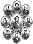 Abraham Lincoln Presidency:  			  President Lincoln and his Cabinet