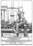 Abraham Lincoln Presidency: Borglum's statue of Abraham Lincoln in Newark