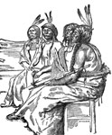 American Indian Clipart: Indians in War Paint