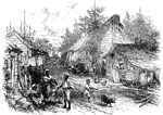 American Slavery: A Negro village in Alabama