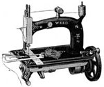 Antique Sewing Machines: No. 2 Machine with a Corder Attached