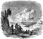 Arctic Exploration: Kane's ship in the arctic region