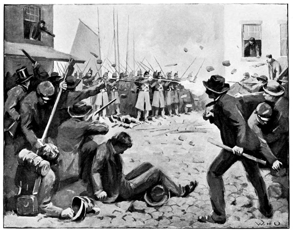 Baltimore 1861: Attack on the Sixth Regiment of Infantry M.V.M. at  Baltimore, Maryland,