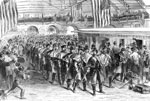 Baltimore 1861: The Sixth Massachusetts Regiment Leaving Jersey City for Washington, April 1861