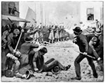 Baltimore 1861:  			  Attack on the Sixth Regiment of Infantry M.V.M. at Baltimore, Maryland, April 19, 1861