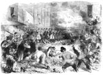 Baltimore 1861: The Sixth Massachusetts Regiment repelling the attack of the mob in Pratt Street, Baltimore, April 19, 1861