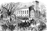 Baltimore Riots:  			  The Funeral Cortege at Boston, Massachusetts of the Sixth Massachusetts Soldiers Killed at Baltimore