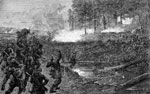 Battle of Beaver Dam Creek: Charge of Confederates Under Ripley and Pender at Beaver Dam Creek Just above Ellerson's Mill