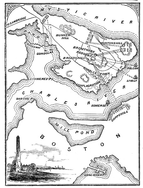 a history of the battles of bunker hill and breed hill in the us war for independence Bunker hill  us history  this map shows details of the 1775-76 siege of  boston and outlines bunker hill and breed's hill on the charlestown peninsula.