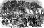 Battle of Fair Oaks: Fair Oaks Farm - Burying the Dead and Burning the Horses