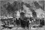 Battle of Fair Oaks: Burying the Dead and Burning Horses at Fair Oaks Station after the Second Day's Fight