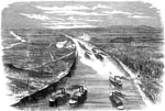 Battle of Fort Henry: Foote's Gun-Boats Ascending to Attack Fort Henry