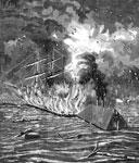 Battle of Fort Jackson: The Hartford Under Attack from Fort Jackson