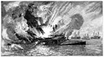 Battle of Fort Jackson: Explosion of the Confederate Ram Louisiana