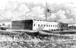 Battle of Fort Pulaski: Fort Pulaski on Corkspur Island, Commanding the Entrance to the Savannah River and the City of Savannah, Georgia