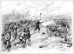 Battle of Glendale: Charge of Confederates upon Randol's Battery at Frayser's Farm