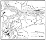 Battle of Glendale: Map of the Battle of Glendale