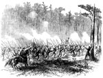 Battle of Glendale: The 1st New Jersey Brigade Rushing to the Support of Kearney who had been Driven Back at Charles City Road, June 30, 1862