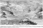 Battle of Hampton Roads: Birds-eye View of Hampton Roads, Virginia, March 8, 1862