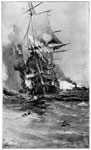 Battle of Hampton Roads: The Merrimac Sinks the U.S. Frigate Congress in Hampton Roads