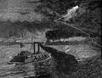 Battle of Island Number 10: U.S. Gunboat Carondelet Running Confederate Batteries at Island No. 10