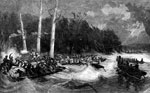 Battle of Island Number 10: Night Expedition to Island No. 10 by Col. Roberts with Forty Picked Men of the 42nd Illinois Spiking the Guns of the Upper Battery