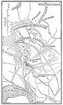 Battle of Malvern Hill: Map of the Vicinity of Malvern Hill, July 1862