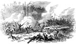 Battle of New Bern: Lt. Tillottson's Naval Battery, Central Division under Lt. McCook at the Battle of New Berne, North Carolina