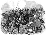 Battle of Pea Ridge: Attack of Colonel Osterhaus's Missouri Cavalry on the Texas Rangers