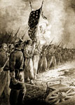 Battle of Pea Ridge: Rallying Upon the Colors - Fayetteville, Pea Ridge March