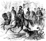 Battle of Pea Ridge: Gen. Asboth and Staff at the Battle of Pea Ridge
