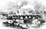 Battle of Port Royal: Fort Walker, Hilton Head, Port Royal Harbor Under Bombardment by U. S. Fleet, Nov. 7, 1861