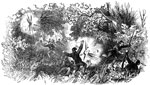 Battle of Port Royal: Effect of the Shells on the Fleeing Confederate Troops in the Woods