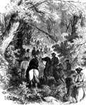 Battle of Rich Mountain: Advance of General Rosecran's Division through the Forest to Attack the Confederates at Rich Mountain