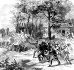 Battle of Rich Mountain: U.S. Troops Under Gen. Rosecrans of General McClellan's Command, the Thirteenth Indiana Capture a Gun