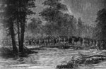 Battle of Seven Pines: Sumner's Corp Crossing the Overflowed Grapevine Bridge