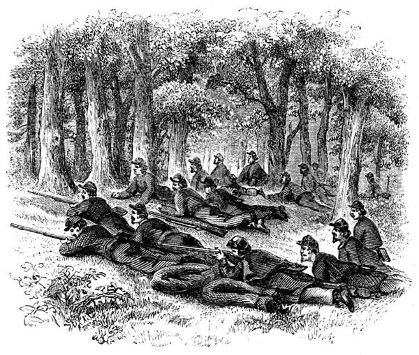 Battle of Shiloh Civil War: Picketts on Duty