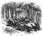 Battle of Shiloh Civil War: Picketts on Duty