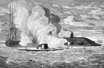 Battle of the Ironclads: Fight Between the Monitor and the Merrimac