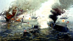 Battle of the Ironclads: Engagement Between the Monitor and the Merrimac at Hampton Roads
