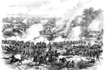Battle of White Oak Swamp: Ayer's, Mott's, and Randol's Batteries Checking Pursuits of the Confederates, June 30, 1862