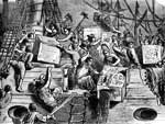 Boston Tea Party: Throwing Tea Overboard
