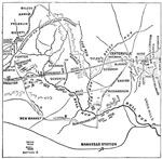 Bull Run Maps: Map Illustrating the Battle of Bull Run